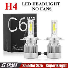2pcs C6 COB H4 22500LM 150W LED Car Headlight Kit Hi/Lo Turbo Light Bulbs 6000K@