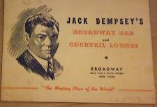 Souvenir B & W Print Taken at  Jack Dempsey's Broadway Bar & Lounge 1930