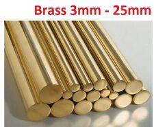 BRASS ROUND BAR ROD CZ121  3mm 5mm 6mm 8mm 10mm 12mm 15mm 20mm 25mm