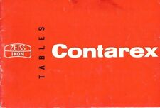 CONTAREX CAMERA LENS TABLES MANUAL -ZEISS-PLANAR-TESSAR-BIOGON-SONNAR LENSES