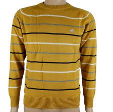 Adidas Stadium jersey de Hombre Suéter de punto marrón NUEVO TALLA S