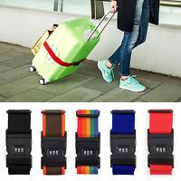 Adjustable Suitcase Luggage Baggage Straps Lock Combination Belt Tie Down Travel