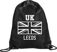 BACKPACK BAG LEEDS UK UNITED KINGDOM UNION JACK GYM HANDBAG SPORT M1