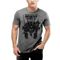 Army Infantry T-Shirt MOS 11B Combat Arms Military Tee Follow Me All sizes, new