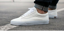 VANS OLD SKOOL CUP LEATHER Whisper White Mens Skate Shoes Size 13 vgs7