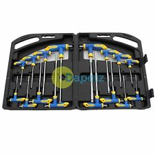 16Pc T Handle Set Torx & Hex Ball End Allen Key Trx Star Tx Screwdriver Set