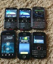 LOT 6 CELL PHONES MOBILE CRICKET CDMA phones (Samsung, Huawei, Kyocera, ZTE)