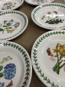 Portmeirion botanic garden set of 6 assorted bread and butter plates