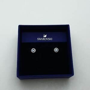 Swarovski Angelic Square Ohrringe, blau, Rhodiniert Ohrstecker Earrings 5352048