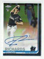 2019 Topps Chrome Trevor Richards AUTO RC, Marlins Rookie!