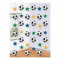 6 x 7 foot Strings Football and Stars Theme Euro Soccer Party Decoration