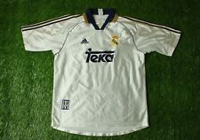 REAL MADRID SPAIN 1998/2000 FOOTBALL SHIRT JERSEY HOME ADIDAS ORIGINAL SIZE L