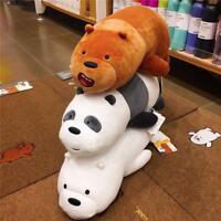 We Bare Bears Plush Panda Grizzly Ice Bear Toy Stuffed Doll Pillow Kid Xmas Gift