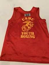 Usmc Boxing Tank Top Contender Brand Official Marine Corp Boxing Team Boys Med