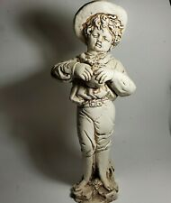 """Statue Young Boy Eating Fruit 16"""" H Yard Art Statuary See Description OD4C03"""