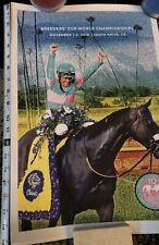 "Breeders Cup Zenyatta Poster - 10 year Anniversary 19""x 13"" Mike Smith"