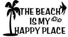the beach is my happy place beach ocean truck sticker vinyl funny car decal