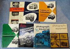 7 Vintage LEICA Original Catalog Lot 36 39 41 42 43 44 45 J754
