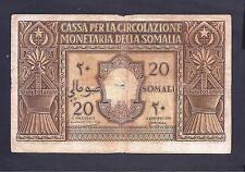 Italian Somaliland p-14 , VG, 20 Somali, 1950