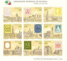 1985 Foglietto Expo Mondiale Filatelia Italia 85 MNH Integro Catalogo Bf 2