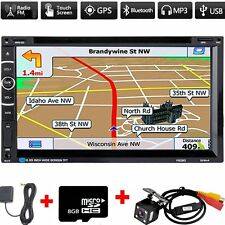 7inch 2 Din In Dash Car DVD Player Radio Stereo GPS SAT NAV+Rear Camera+8G Map