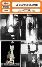 FICHE CINEMA : LE SILENCE DE LA MER - Vernon,Melville 1949 Silence of the Sea
