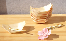 x 50  Wooden BAMBOO BOATS  8 x 5 cm Food  Wood Serving Canape Finger From Sydney