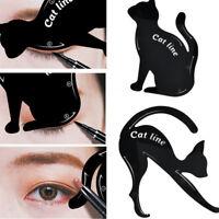 Women 2Pcs Eyeliner Stencils Cat Line Pro Eye Makeup Tool Template Shaper Model