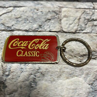 Vintage Coca-Cola Classic Brand Original Formula Key Chain Ring Coke Metal