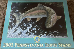 Kutco Printing & Products Inc. Harrisburg PA Trout Stamp 2001 Picture Plaque Use