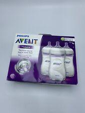 Philips Avent Natural 9-oz. Bottle 3 Pack Nib