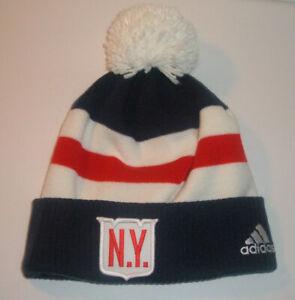 New York Rangers 2018 Winter Classic Knit Pom Beanie Hat NWOT Adidas + Bonus Hat
