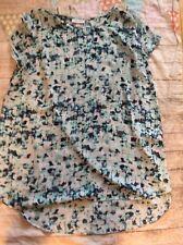 Liz Lange For Target Sheer Flowy Maternity Top Size XL With Side Slits