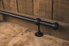 Industrial foot rail, black, home bar, vintage,metal, cast iron, kitchen, bar