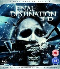 Blu Ray THE FINAL DESTINATION 3D and 2D. Horror. Brand new sealed.