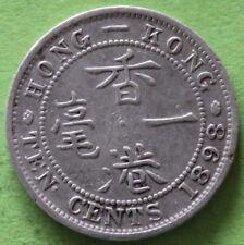 HONG - KONG 10 CENTS 1898