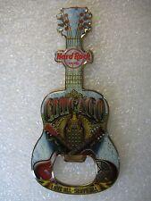 CHICAGO Hotel Hard Rock Cafe Guitar Bottle Opener Magnet V 13
