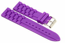 22MM PURPLE SILICONE RUBBER SPORT WATCH BAND STRAP FITS FOSSIL
