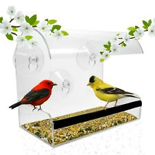 The Original Window Bird Feeder: large, durable, washable! Fast Free Shipping!