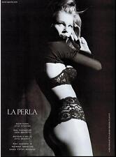 2000 LA PERLA : Rebecca Romijn ,   Bra & Panty Magazine Print  Ad