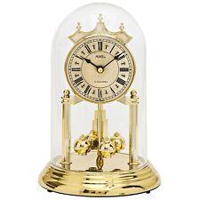 AMS Designer Tischuhr Glockenschlag 4/4 Westminster/Bim-Bam Schlag römisch gold