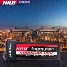 HRB Graphene Lipo Battery 5000mAh 7.4V 2S 100C XT90 Plug For RC Car Truck Boat