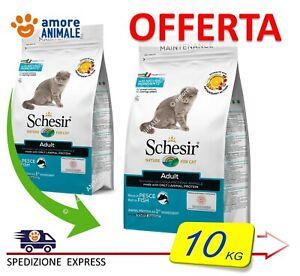 Schesir Dry Cat Mantenimento con PESCE  10 kg - Alimento per Gatti Adulti