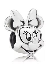 GENUINE STERLING SILVER DISNEY MINNIE MOUSE HEAD PORTRAIT CHARM