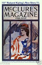 McClure's Magazine Cover Art 1900 EAGLE Lady Liberty Fine Art Print / Poster