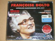 COFFRET 3 CD / FRANCOISE DOLTO / LORSQUE L'ENFANT PARAIT VOL 2 / NEUF SOUS CELLO