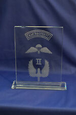 II Squadron RAF Regiment crystal Plaque Airborne Forces