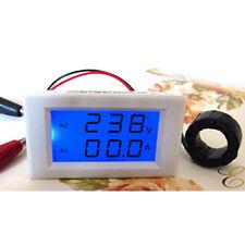 Digital AC 300V 50A Lcd Dual Panel Volt Amp Combo Meter +CT Shunt 110v 220-240v