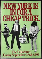 Cheap Trick Live At The Palladium New York Vintage Original 1978 Concert Poster