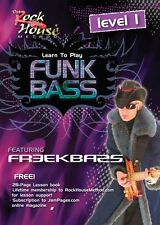Freekbass Learn to Play Funk Bass Level 1 Rock House Dvd New 014027243